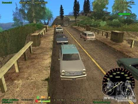 DMX pour GTA San Andreas quatrième écran
