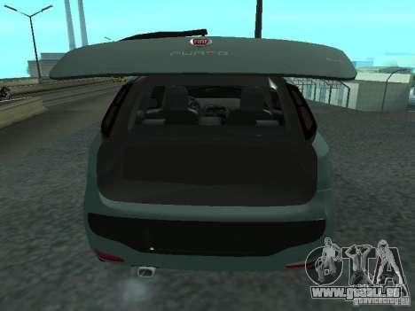 Fiat Punto EVO SPORT 2010 pour GTA San Andreas vue arrière