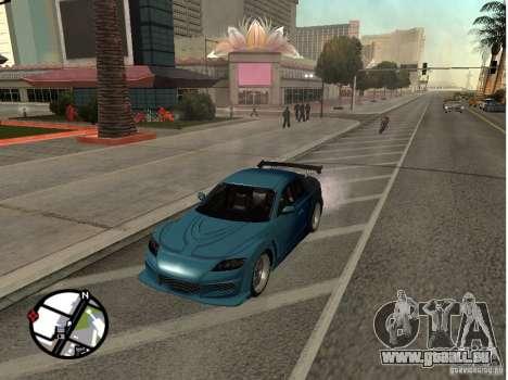 Mazda RX8 für GTA San Andreas Innenansicht