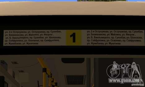 Daewoo Bus BC211MA Almaty für GTA San Andreas Rückansicht