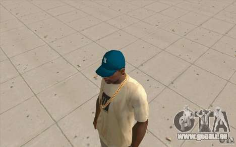 Cap bleu newyorkyankiys pour GTA San Andreas
