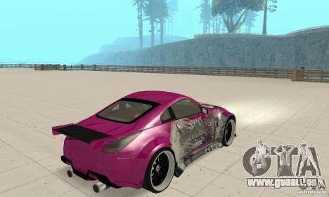 Nissan 350Z Tuning pour GTA San Andreas laissé vue