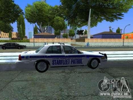Ford Crown Victoria Police Interceptor 2008 pour GTA San Andreas vue arrière
