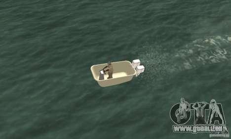 Bathtub Dinghy pour GTA San Andreas vue de droite
