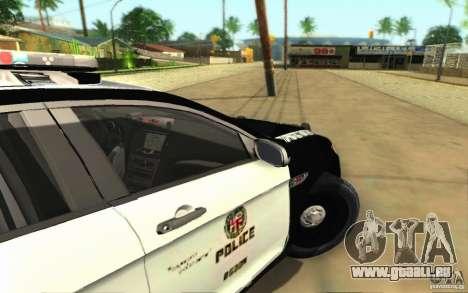 Ford Taurus 2011 LAPD Police pour GTA San Andreas vue arrière