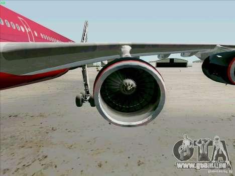 Airbus A-340-600 Formula 1 für GTA San Andreas Innenansicht