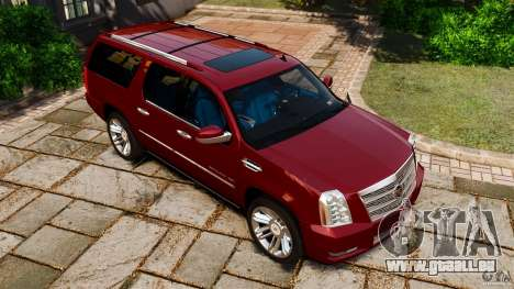 Cadillac Escalade ESV 2012 für GTA 4 obere Ansicht