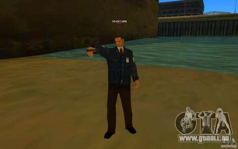 HQ skin FBI pour GTA San Andreas deuxième écran