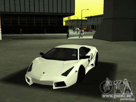Lamborghini Reventon pour GTA San Andreas vue de côté