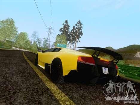 Lamborghini Murcielago LP670–4 SuperVeloce pour GTA San Andreas laissé vue