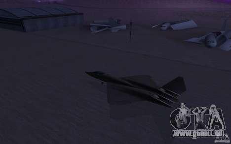 YF-23 pour GTA San Andreas laissé vue