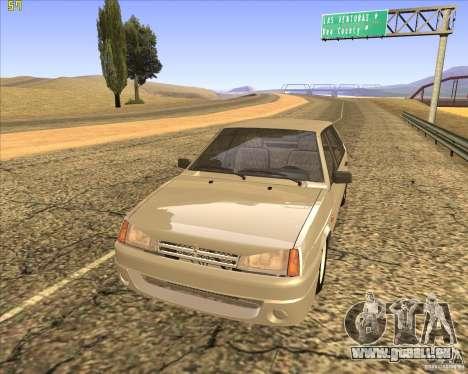VAZ 2109 Tuning pour GTA San Andreas vue arrière