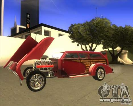 Custom Woody Hot Rod für GTA San Andreas rechten Ansicht