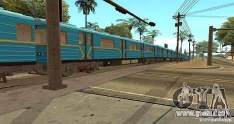 U-Bahn Typ Igel für GTA San Andreas Rückansicht