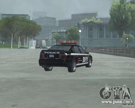Cop Car Chevrolet pour GTA San Andreas sur la vue arrière gauche