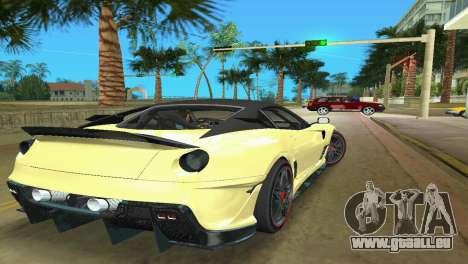 Ferrari 599XX für GTA Vice City rechten Ansicht