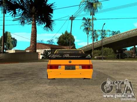 Alfa Romeo 75 Turbo Evoluzione pour GTA San Andreas sur la vue arrière gauche