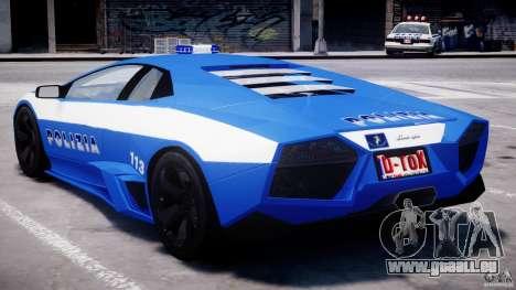 Lamborghini Reventon Polizia Italiana für GTA 4 Innen
