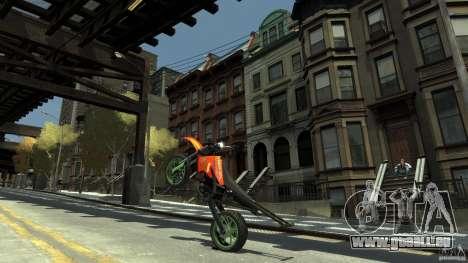Stunt Supermotard Sanchez für GTA 4 Rückansicht