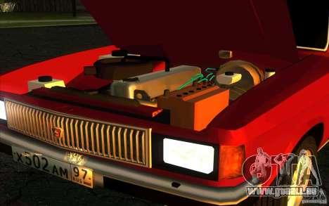 GAZ Limousine de Volga 3102 pour GTA San Andreas vue arrière
