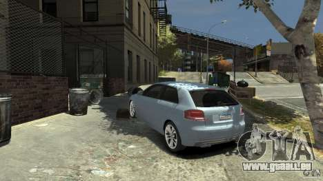 Audi S3 2009 pour GTA 4 Vue arrière de la gauche
