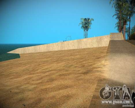 New textures beach of Santa Maria für GTA San Andreas sechsten Screenshot