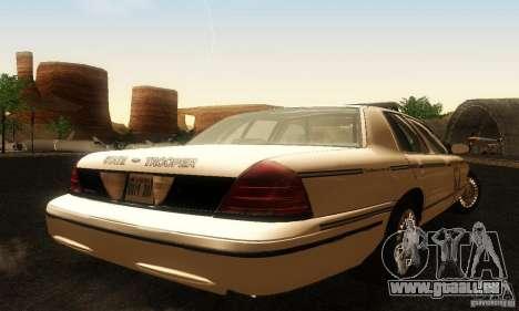 Ford Crown Victoria Ohio Police pour GTA San Andreas laissé vue
