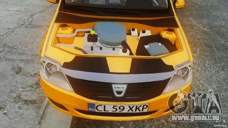 Dacia Logan Facelift Taxi für GTA 4 rechte Ansicht