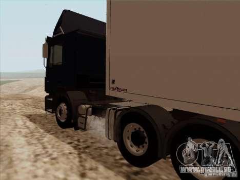 MAN F2000 6x4 pour GTA San Andreas vue arrière
