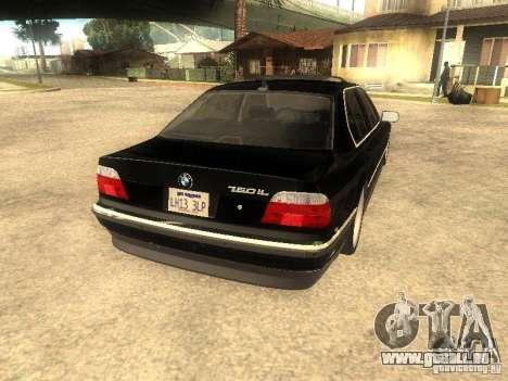 BMW 750iL für GTA San Andreas Seitenansicht