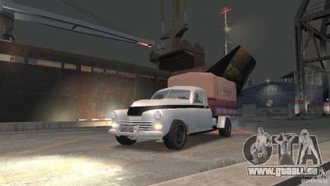 GAZ M20 Pickup pour GTA 4 Vue arrière de la gauche