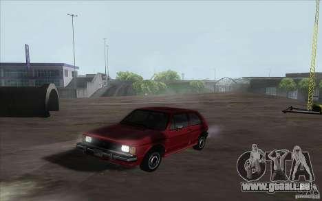 Volkswagen Rabbit 1986 pour GTA San Andreas laissé vue