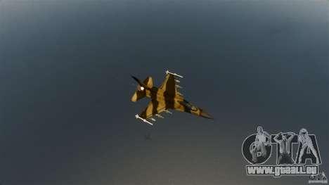 F-16C Fighting Falcon pour GTA 4 Vue arrière