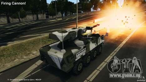 Stryker M1128 Mobile Gun System v1.0 pour GTA 4 vue de dessus