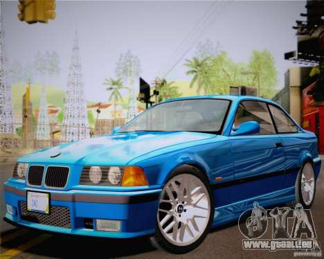 BMW M3 E36 New Wheels pour GTA San Andreas sur la vue arrière gauche