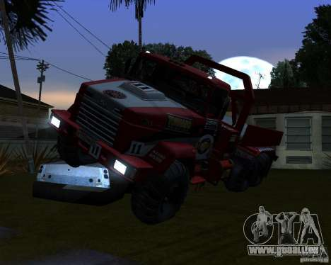 Procès de KrAZ-6322 pour GTA San Andreas vue arrière
