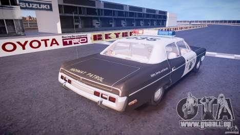 AMC Matador CHP [ELS] pour GTA 4 vue de dessus