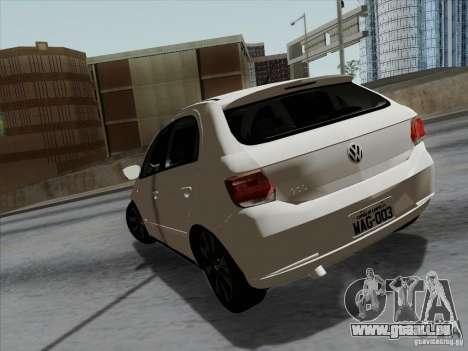 Volkswagen Golf G6 v3 pour GTA San Andreas sur la vue arrière gauche