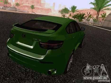 BMW X6 LT pour GTA San Andreas laissé vue