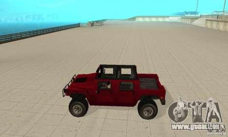 Hummer Civilian Vehicle 1986 pour GTA San Andreas laissé vue