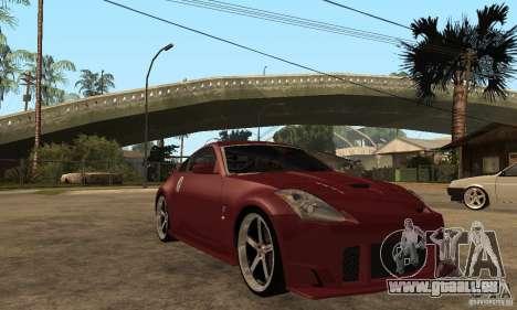 Nissan 350Z JC2 für GTA San Andreas Rückansicht