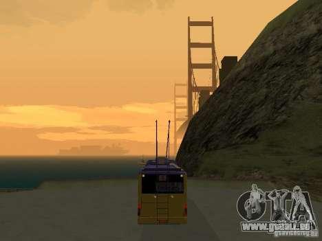 Trolleybus LAZ e-183 für GTA San Andreas zurück linke Ansicht