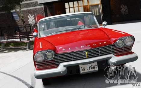 Plymouth Belvedere Sport Sedan 1957 pour GTA 4 Vue arrière de la gauche