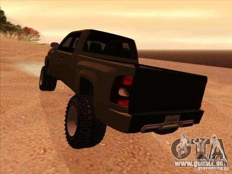 Chevrolet Silverado ZR2 für GTA San Andreas rechten Ansicht