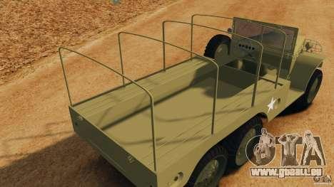 Dodge WC-62 3 Truck pour GTA 4 est une vue de dessous