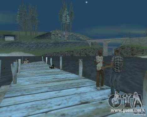 La plage animée de Palomino Creek pour GTA San Andreas deuxième écran