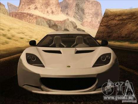 Lotus Evora pour GTA San Andreas vue de dessus
