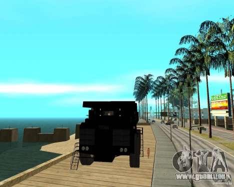 Dumper pour GTA San Andreas vue arrière