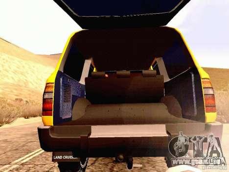 Toyota Land Cruiser 80 Off Road Rims pour GTA San Andreas vue intérieure