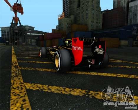 Lotus E20 F1 2012 pour GTA San Andreas vue arrière